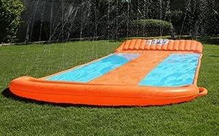 eXXtra Store Outdoor Triple Inflatable Water Slide Big Splash Spit Kids Play Backyard Pool + eBook