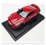 Outdoorking Model Car 1: 24 2017 para Nissan para GTR Sports Car Casting Modelo Modelo Simulación Aleación Coche Modelo Decoración Recolecta Regalos Juguete Para Niños Regalo (Color: Blanco) fengong