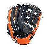 Easton Future Elite Youth Baseball Glove 11'', RHT, Navy/Orange/White, I Web, FE1100, Navy/Orange/White, Medium
