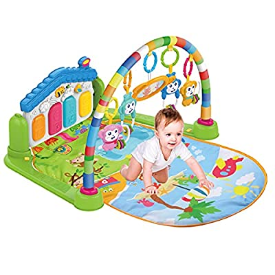WYSWYG Baby Play Gym, Baby Play Mat Tummy Time Playmat Kick Piano Infant Babies Newborn Floor Mat for 0-12 Months