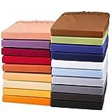 aqua-textil Exclusiv Spannbettlaken 90x200-100x220 Wasserbett Boxspringbett Mako Baumwolle Elasthan Silber grau
