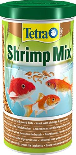 Tetra Pond Shrimp Mix (Naturfutter für alle Teichfische aus natürlichen Shrimps und Gammarus, reich an Proteinen, für leuchtende Farben), 1 Liter