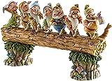 Vkgbpy Gnomo de Siete árboles Enanos decoran el jardín, Figura de Siete enanitos de Regreso a casa, estatuas de gnomo de jardín de Hadas, Kit de gnomo de jardín al Aire Libre Hecho a Mano