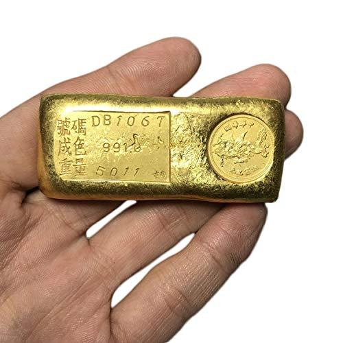 LAOJUNLU Lingote de Oro Antiguo, Barra de Oro del dragón Volador, lingote de Oro Joyas de Estilo Tradicional Chino