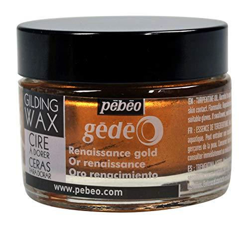 Pebeo GÉDÉO Vergoldungswachs, 30 ml, Wachs, Renaissance-Gold, 5.50 x 5.50 x 4.50 cm
