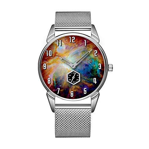 Mode wasserdicht Uhr minimalistischen Persönlichkeit Muster Uhr -618. Orion Nebel