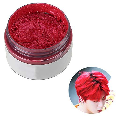 Beito Haarwachs 1 STÜCK Unisex TemporäRe Haarfarbe Wachs Haar Styling Creme Schlamm NatüRliche Frisur Pomade DIY Haarfarbe Wachs HaarfäRbecreme FüR Party Cosplay (rot)