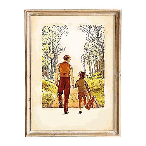 "FANART369 Filmposter ""Goodbye Christopher Robin #3"", A3-Format, origineller Fanart-Wandkunstdruck, Dekor, 29,7 x 42 cm, randlos"