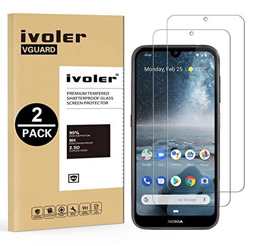 VGUARD [2 Pack] Pellicola Vetro Temperato per Nokia 4.2 [Garanzia a Vita], Pellicola Protettiva Protezione per Schermo per Nokia 4.2