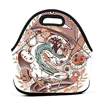 KILILY My Neighbor Totoro Matryoshka Men Women Kids Insulated Lunch Bag Tote Reusable Lunch Box For Work Picnic School
