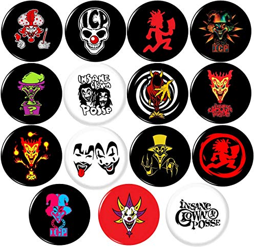 ICP Insane Clown Posse 15 New 1' inch (25mm) pins Badges Buttons Juggalo Hatchet Man Gathering …