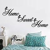 Topgrowth Adesivi Murali Home Sweet Home Adesivi Decorativi da Parete Fai da te Removibile Wall Sticker