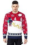 Noroze, Maglione natalizio spiritoso lavorato a maglia, unisex Ho Ho Santa Red L