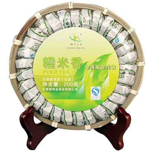 200g (0.44LB) Foglia d'oro Vecchi alberi Pu-erh Tè Pu'er crudo Sapore di riso glutinoso Tuocha Vecchio tè Puer Tè verde Colonna del drago Tubo di bambù Tè cinese Verde Buono Sheng cha