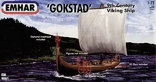 Emhar 9001 Gokstad 9th Century Viking Ship 1:72 Plastic Kit by Emhar