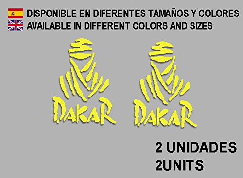Ecoshirt M9-YY3I-M6TZ Aufkleber Dakar F68 Vinyl Adesivi Decal Aufkleber-Set Links Portugiesisch MTB Stickers Bike, Gelb