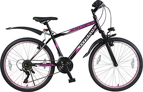 T 24 Zoll Mädchenfahrrad Kinderfahrrad Mädchen MTB Mountainbike Mädchenrad FEDERGABEL JUGENDFAHRRAD Kinder Jugend Fahrrad Bike Rad Escape Schwarz Pink TYT19-023