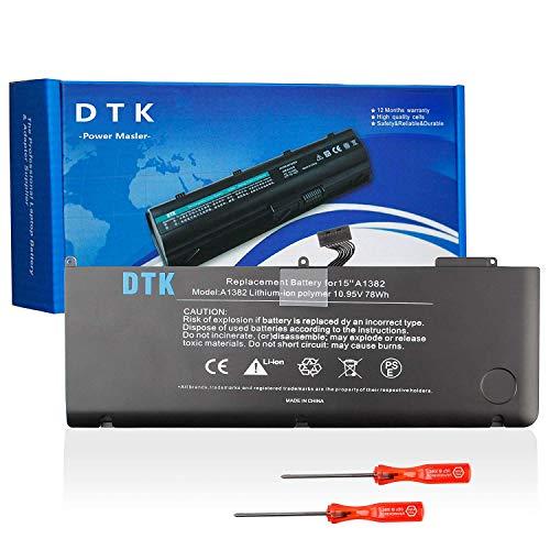 DTK Laptop Batería Reemplazo para Portátil Macbook Pro 15