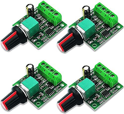 RUNCCI-YUN 4pcs Controller di Velocità PWM Motore DC,potenziometro 12 volt,regolatore di tensione 12v,Regolatore di Tensione Variabile1.8v-12v,Modulo Interruttore Regolabile Velocità