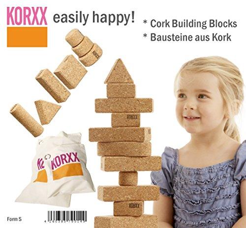 Korxx korxx4260385790149660g Form Kork Baustein in Baumwolle Tasche (klein, 28)