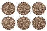 HERSIG - Pack 6 Salvamanteles Individuales | Manteles Individuales Redondos de Enea - 35 cm