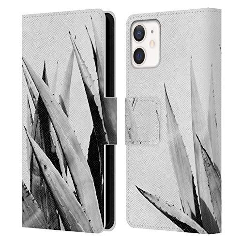 Head Case Designs Licenciado Oficialmente Dorit Fuhg Aloe Vera Plants Carcasa de Cuero Tipo Libro Compatible con Apple iPhone 12 Mini