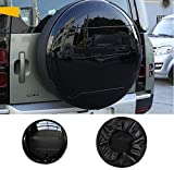 SAREMAS Spare tire Cover for Land Rover Defender 2020 2021 ABS Spare Tyre Plastic Wheel Cover