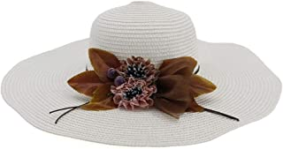 Sun Hat for men and women Fashion Summer Women's Sun Hat Flower Hat Casual Folding Wide-brimmed Hat Beach Hat