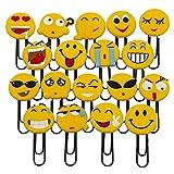 Nette Emoji Lesezeichen, lustige Paperclip Lesezeichen, Neuheit Emoticon Buch Marker für Kinder,...