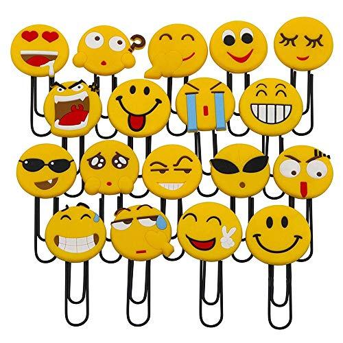 Simpatici segnalibri Emoji, simpatici segnalibri graffetta, novità Emoticon segnalibri per bambini, ragazze, ragazzi, studenti scolastici (a caso 10PCS)