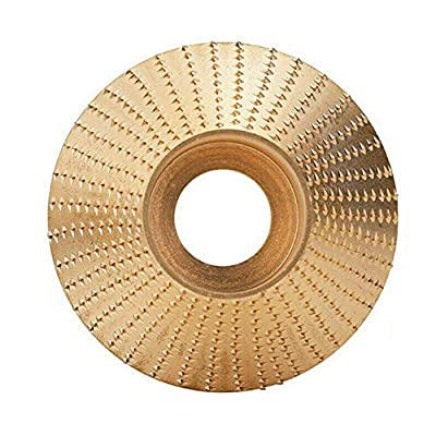 Bingqi Wood Tungsten Carbide Grinding Wheel Sanding Carving Tool Abrasive Disc for Angle Grinder (4 in Bevel Gold)