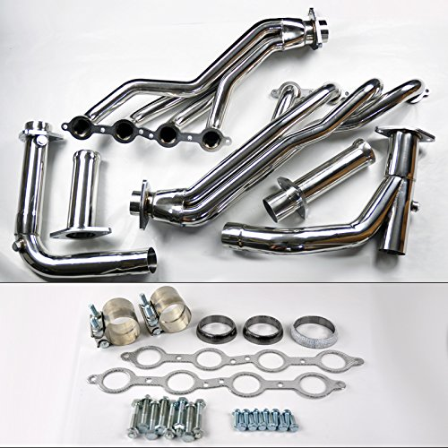 Chevy GMC 07-14 4.8L 5.3L 6.0L Long Tube Stainless Steel Headers w/Y Pipe