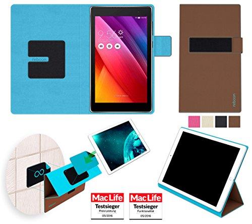 reboon Hülle für Asus ZenPad 7.0 Tasche Cover Case Bumper | in Braun | Testsieger