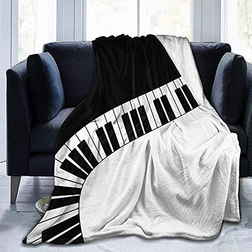 hgdfhfgd Klaviertasten - Micro Flanell Decke Männer & Frauen 50x40 Zoll