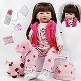 ZIYIUI Muñeca Reborn Baby Doll 24 Pulgadas 60 cm Niña Muñeca Simulación Bebé Recién Nacido Juguete R...