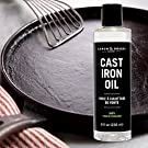 Caron & Doucet - Cast Iron Seasoning & Cleaning Oil | 100% Plant-Based & Food Grade! | Best for Seasoning, Restoring, Curing and Care (8oz) #1