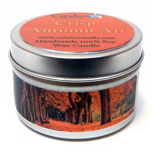 Crisp Autumn Air 4oz, Super Scented Soy Candle Tin