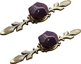 WLALLSS Set van 2 diamantvormige enkele gat keramische deurknoppen - vintage geschilderde handgreep - Kids meisje meubels ...