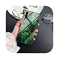 MuuYuu for Samsung A20E S10 S20 S9 S8 S7 Edge Ultra plus Note 10 9 8Plus強化ガラスカバーの大理石ケース-W3336-S9