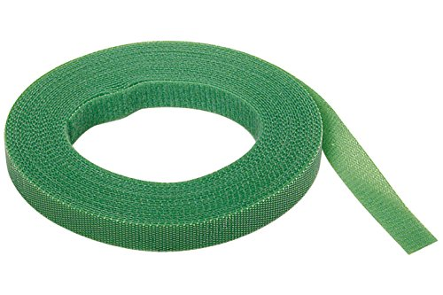 Wolfcraft 3285000 tira adherente de velcro verdes para el jardín PACK 1, verde
