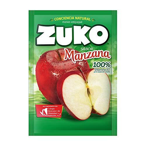 3 x zuko manzana no sugar needed drink mix packs 15g each