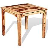 vidaXL Sheesham-Holz Massiv Esszimmertisch Vintage-Stil Küchentisch Esstisch Speisetisch Holztisch Tisch Massivholztisch Palisander 82x80x76cm