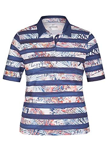Rabe Damen Shirt mit geringeltem Muster und halblangen Ärmeln