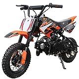 X-PRO 70cc Dirt Bike Pit Bike Kids Dirt Pit Bike 70cc Child Dirt Bike Dirt Pitbike(Orange)