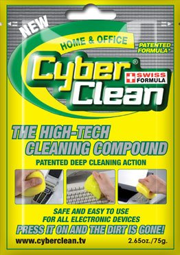 The Original Patented Cyber Clean Clean Home and Office Electronic Cleaner 2.65 oz Foil Bag - Single Pack