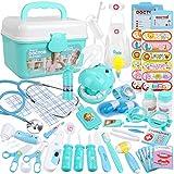 Anpro 46 kit de Médecin Jouets Déguisement de Docteur Rôle Jouets du Docteur Imitation avec Mallette Medecin Outils...