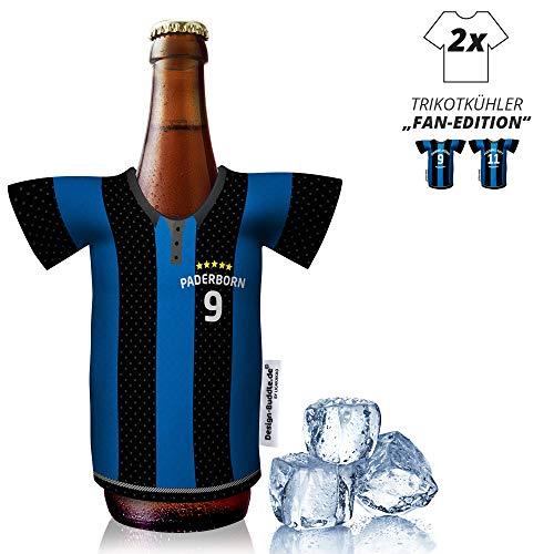 Ligakakao vereins-Trikot-kühler Home für SC Paderborn-Fans | 2er Fan-Edition| 2X Trikots | Fußball Fanartikel Jersey Bierkühler by