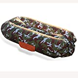 L&ZR Aufblasbare Lounger Bag Air Sofa Lounge Hängematte Und Pool Float, Ideal Für Wandern Camping...