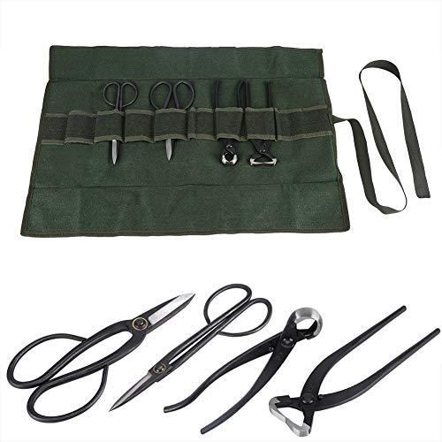 Bonsai Werkzeug Werkzeugset 4 Stücke Gartenwerkzeug Gartenschere mit Gerollte Tasche