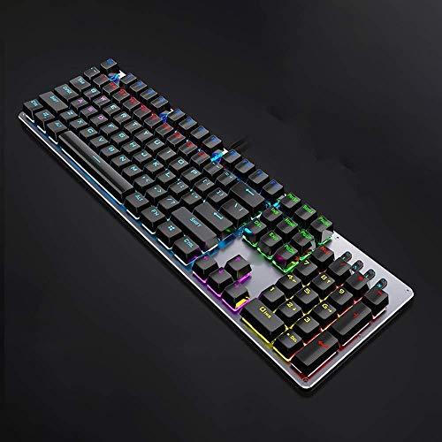 Ergonomische Tastatur Computer-Tastatur luminated Tastatur Gaming-Tastatur, E-Sport-Tastatur Mechanische Grüne Achse Tastatur Schnelllade, Peripheral USB-Schnittstellen-Tastatur / kühler Lichteffekt x